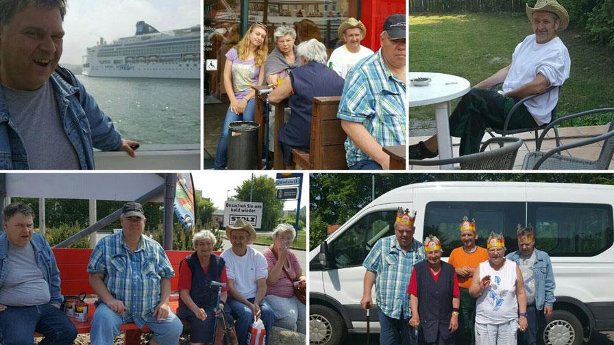 Fotocollage aus dem Hultschiner Damm mit Bildern der Bewohner